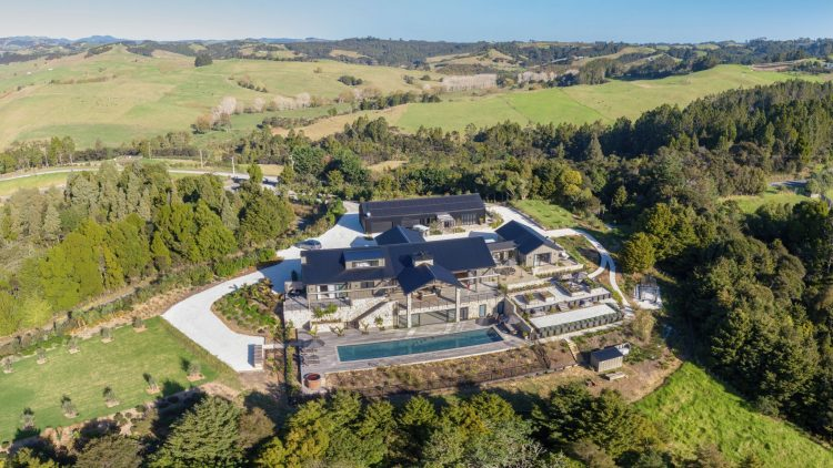Te Arai Lodge from Above