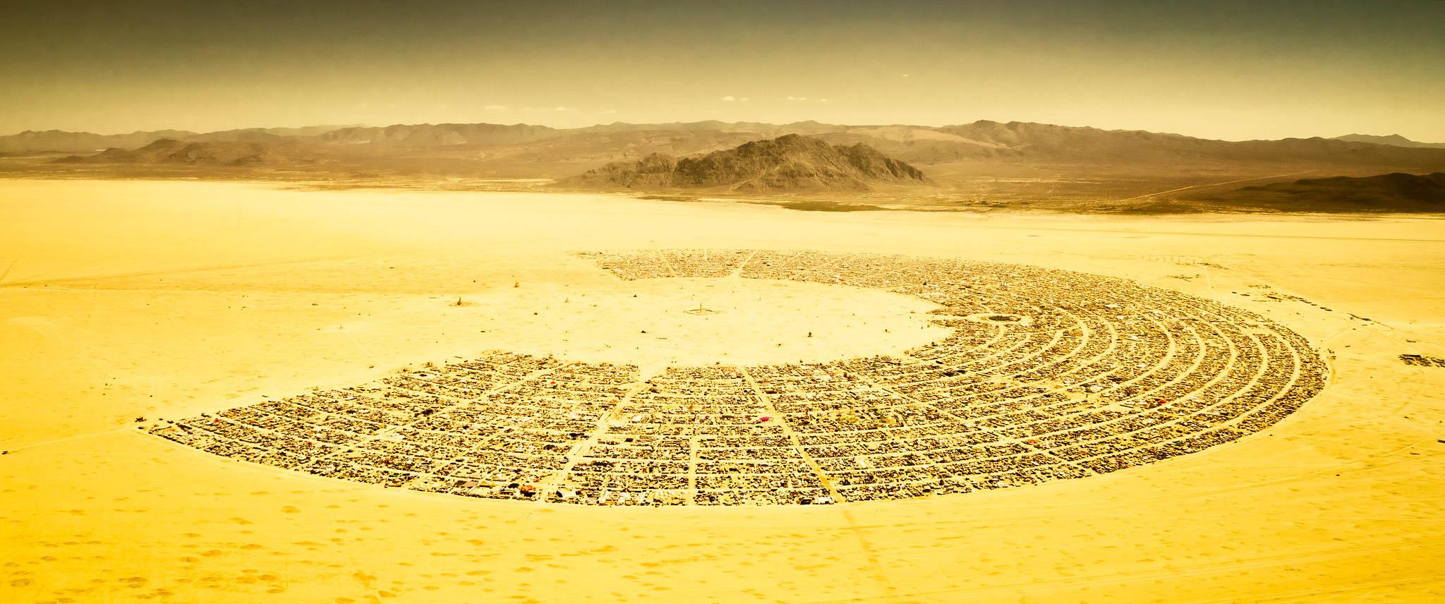 Black Rock Desert from above - Burning Man
